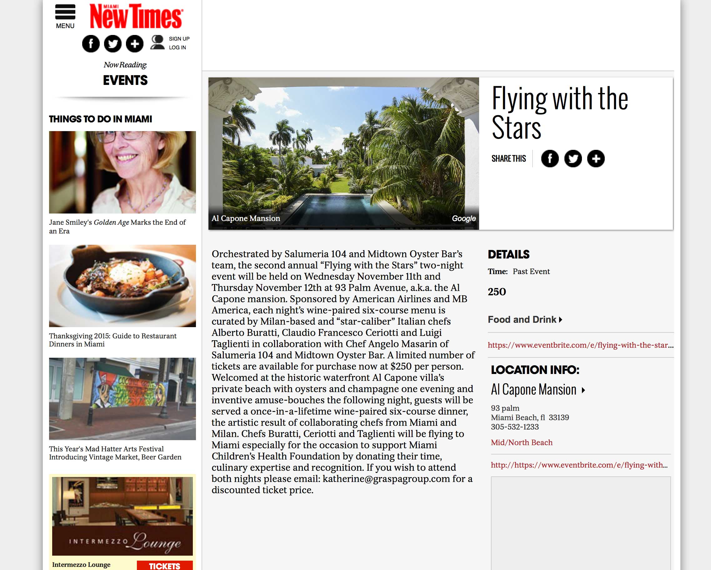 """<p><strong>Miami New Times</strong><a href=""""http://www.miaminewtimes.com/event/flying-with-the-stars-8005296"""" target=""""_blank"""">Read Article→</a></p>"""