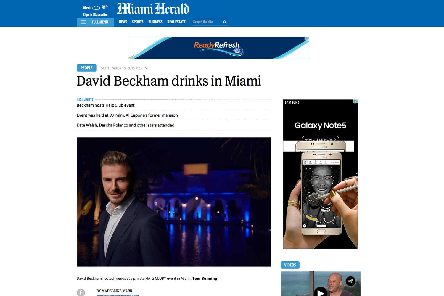"""<p><strong>Miami Herald</strong><a href=""""http://www.miamiherald.com/entertainment/celebrities/article35760513.html"""" target=""""_blank"""">Read Article→</a></p>"""