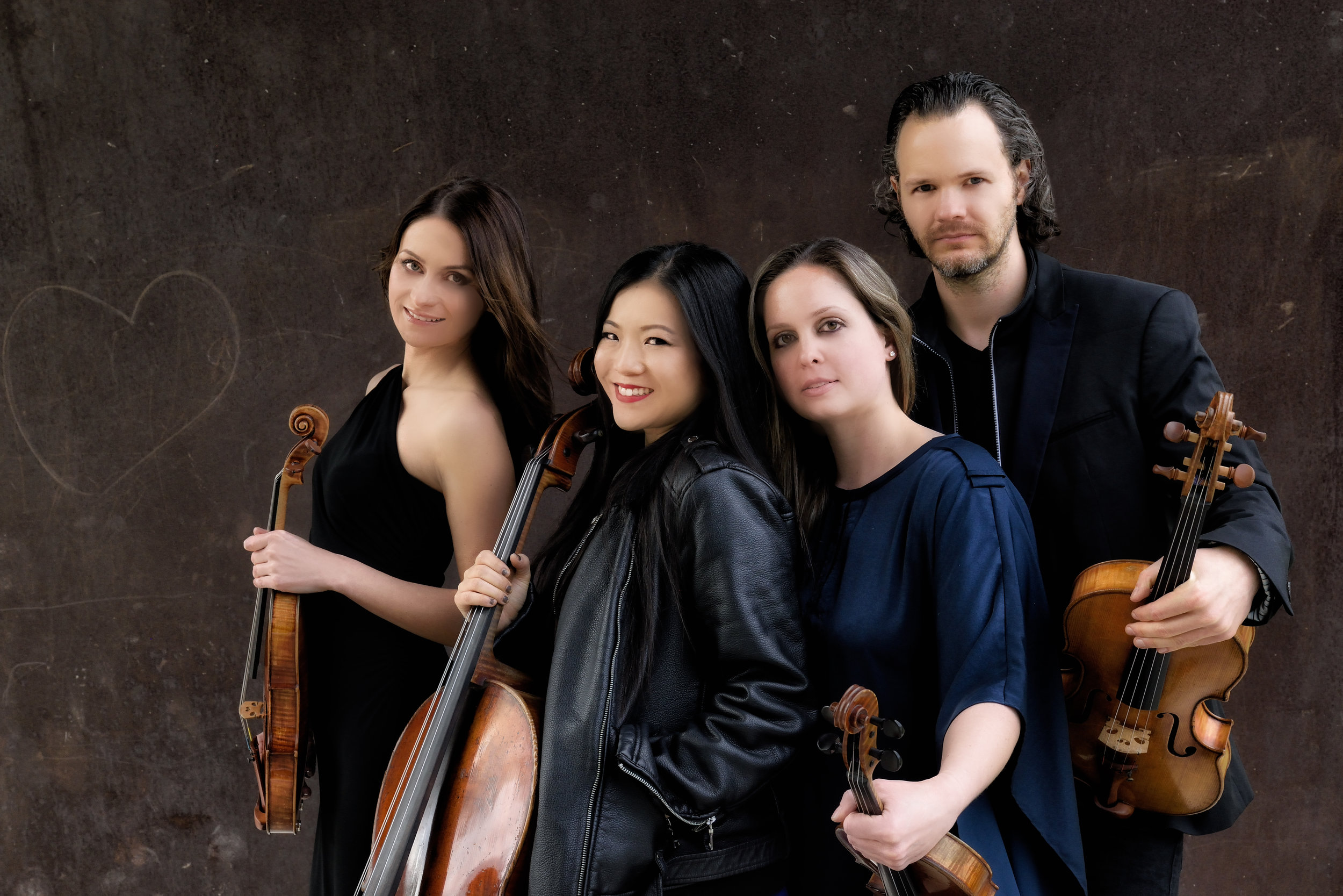 L to R: Galina Zhdanova, Wendy Law, Emily Ondracek-Peterson, Erik Christian Peterson