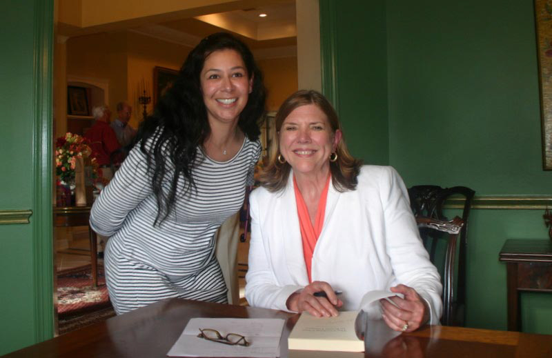A new friend and me at the Bay Oaks Tasting and Signing