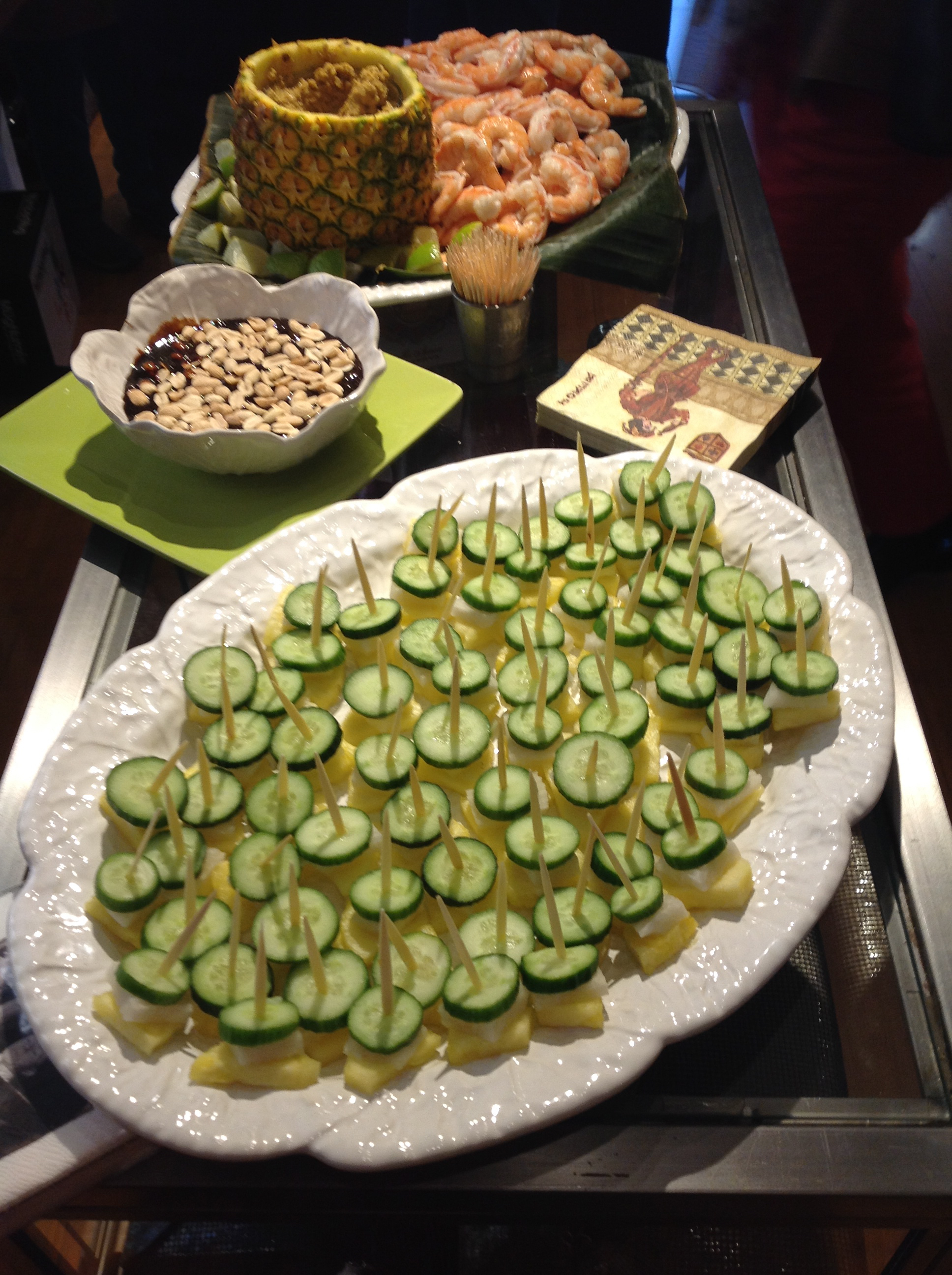 Rojak on a stick for a tasting event