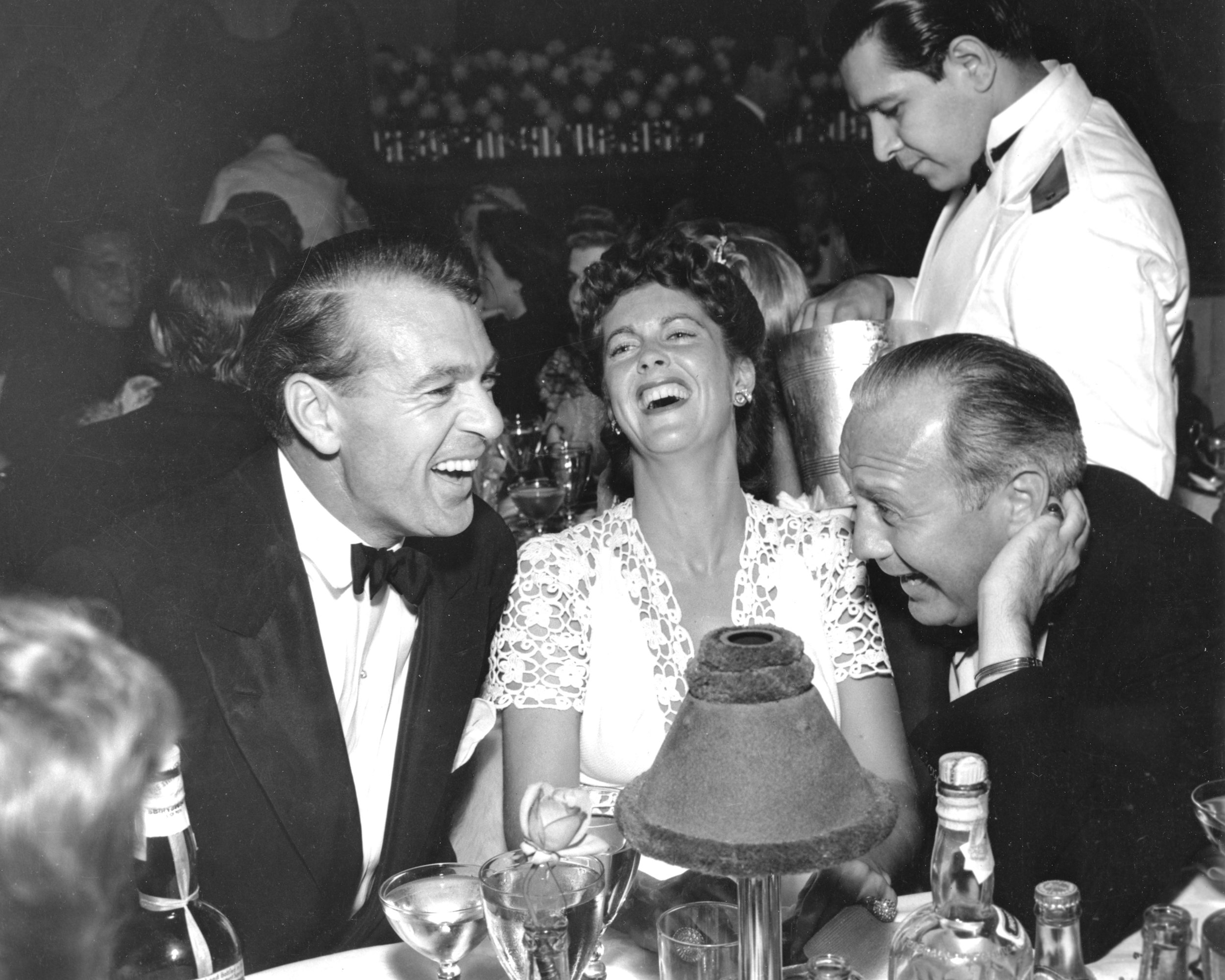 Gary and Victoria Cooper with Jack Benny