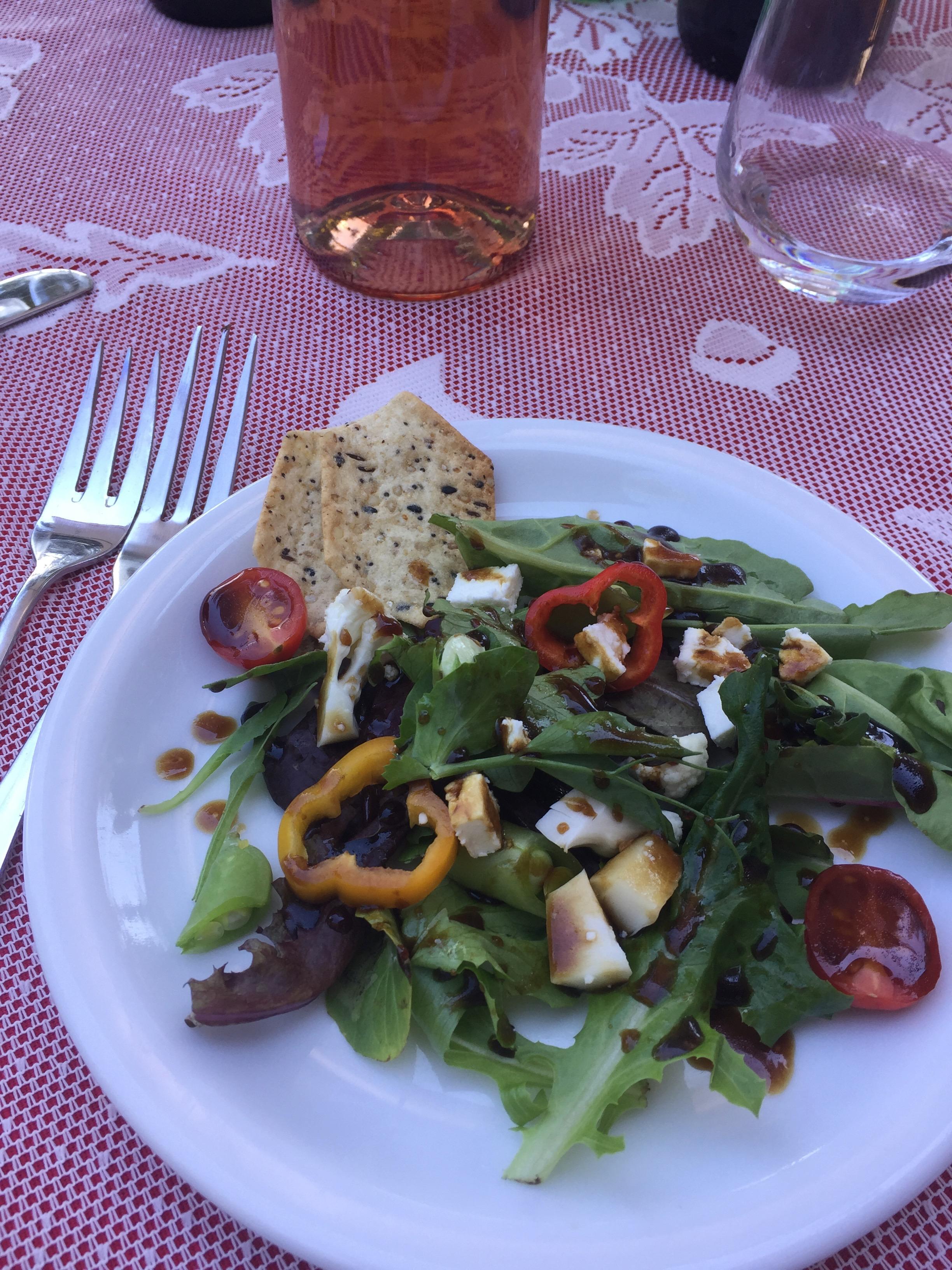 Copy of Salad with Pedroni Balsamico and SA Olive oil