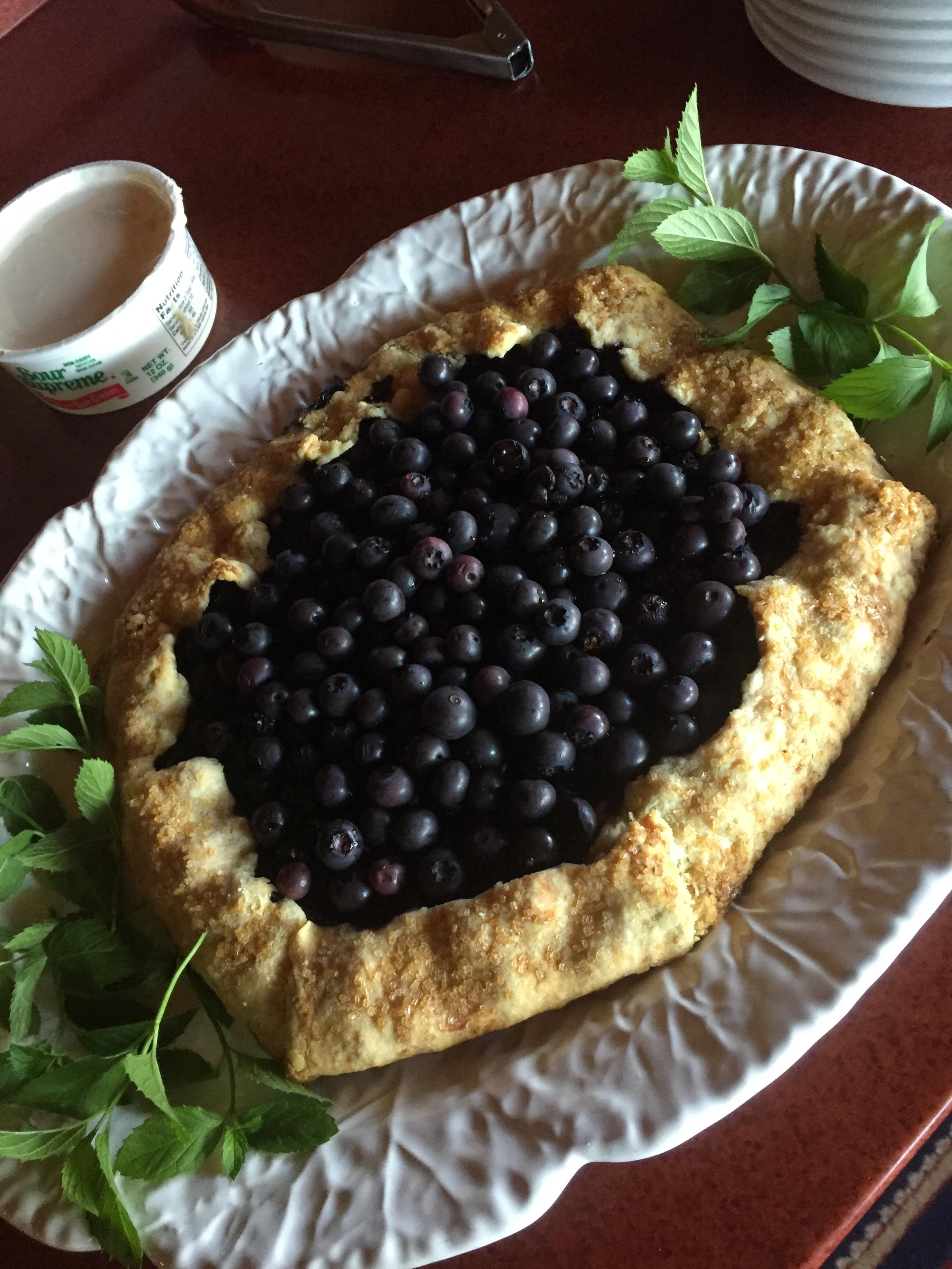 Blueberry Gallette