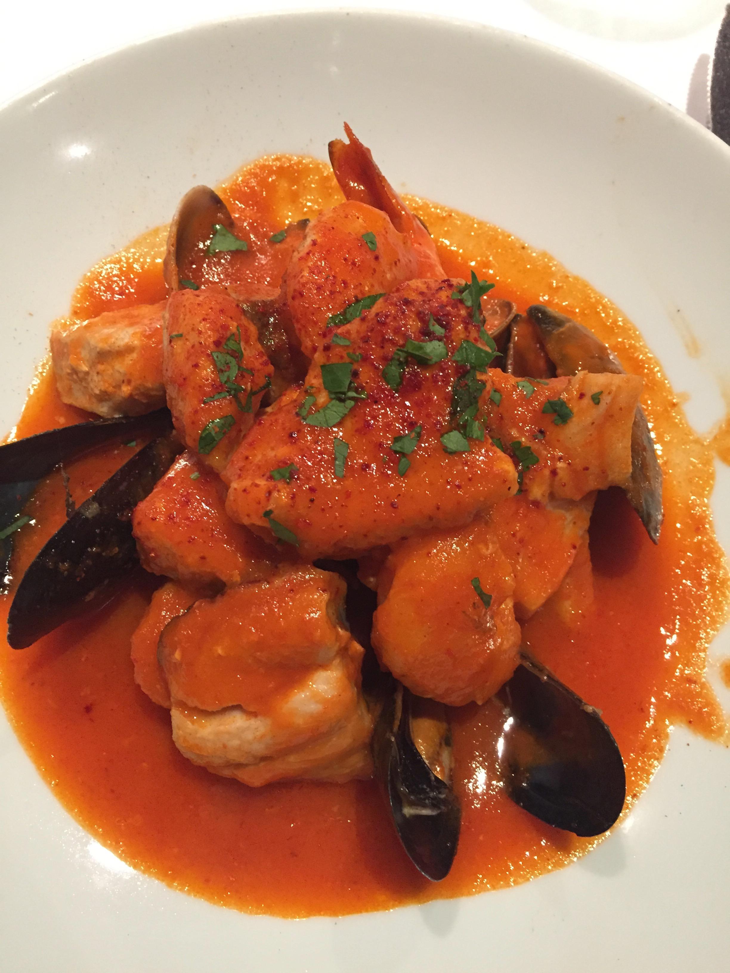 "Seafood + Shellfish Stew ""Bizkaiko,"" Pepper Sauce"