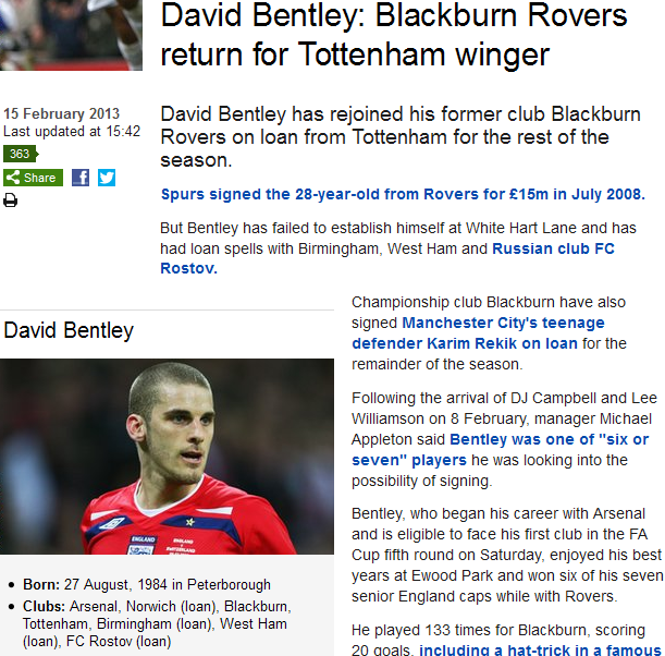 Almost back where it all started (Arsenal move imminent if he impresses at Rovers)...