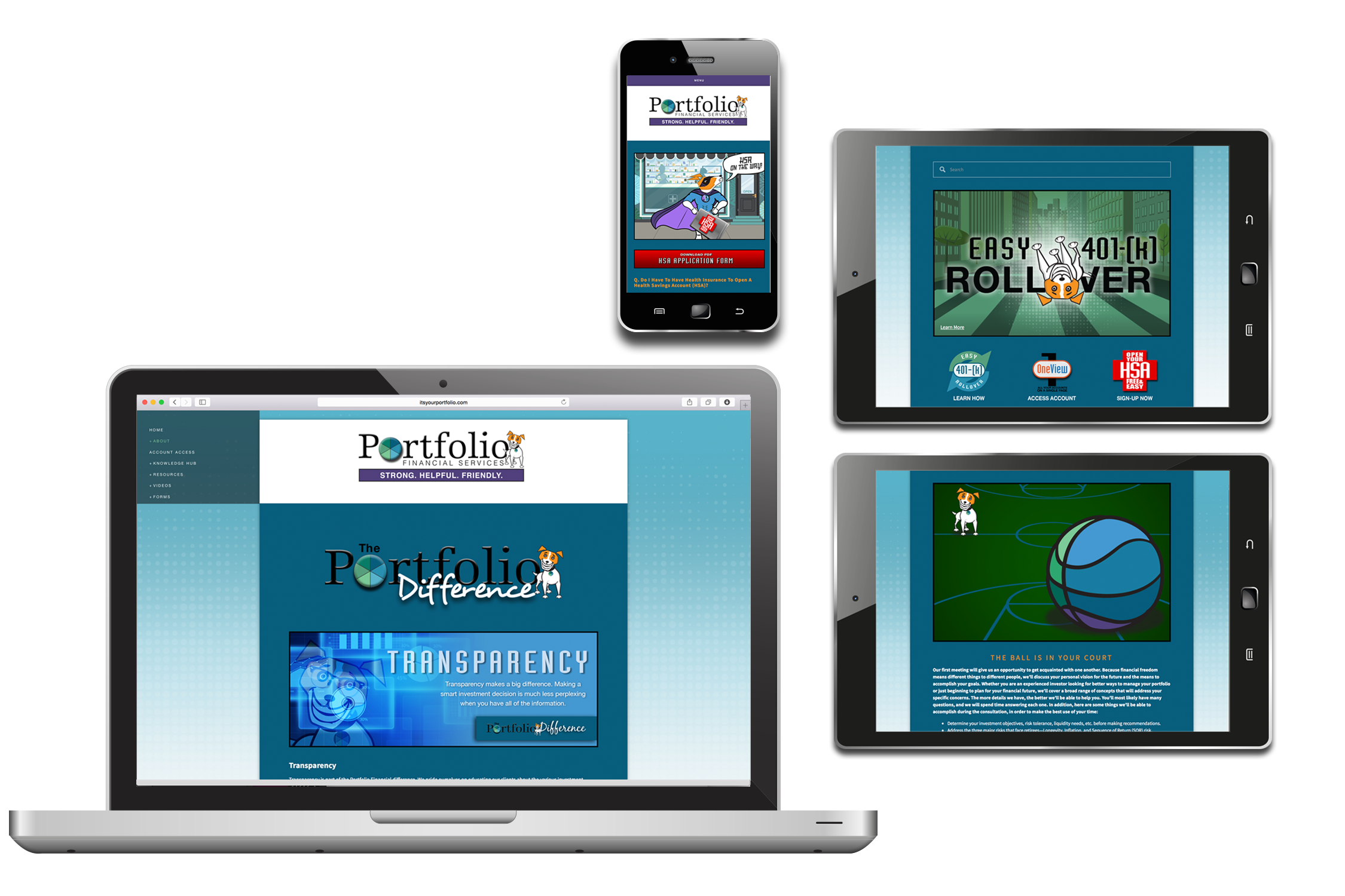 Website design  and  custom illustration