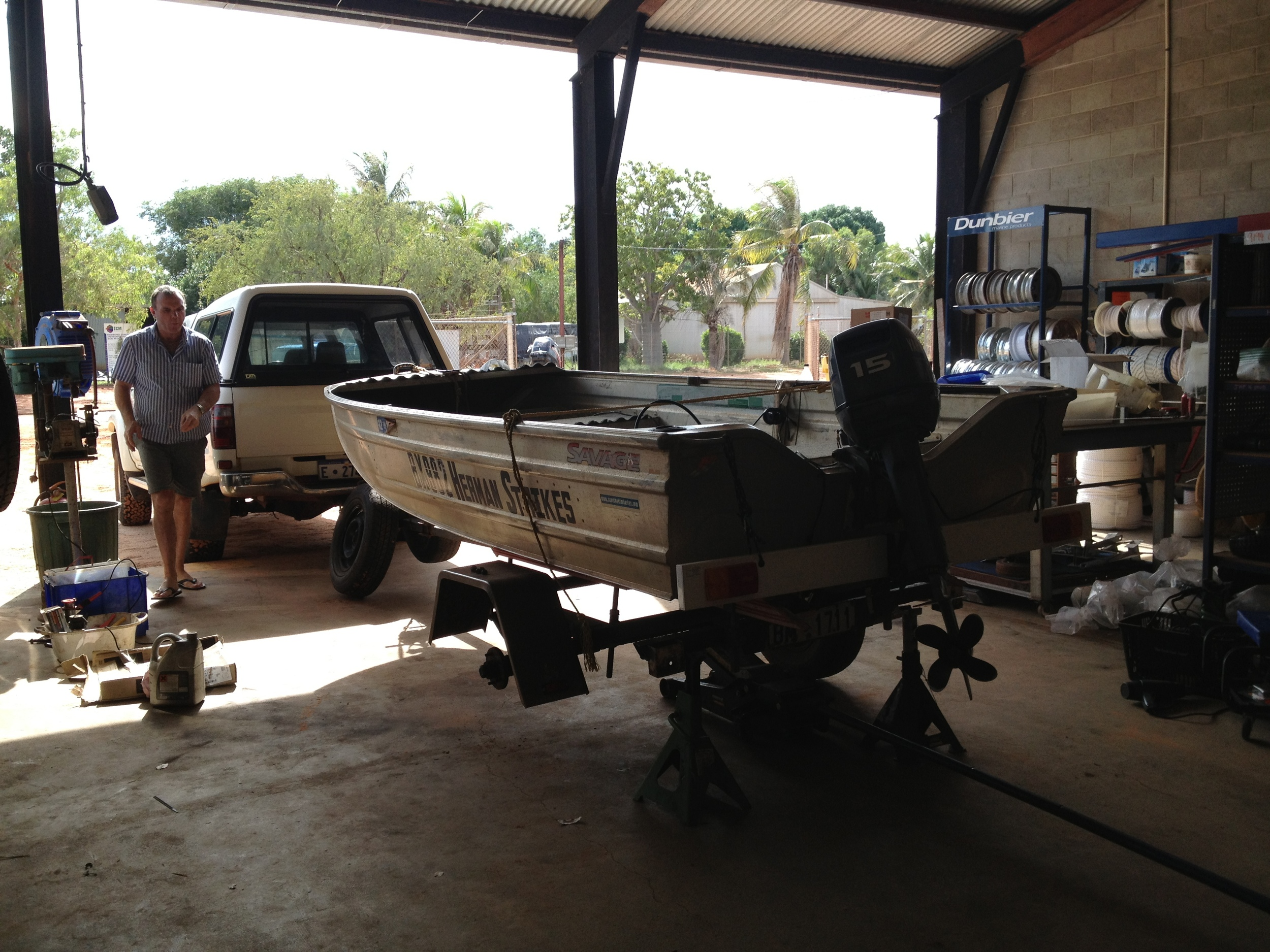 Boats, trailers and the Kimberley... IT'S NEVER EASY