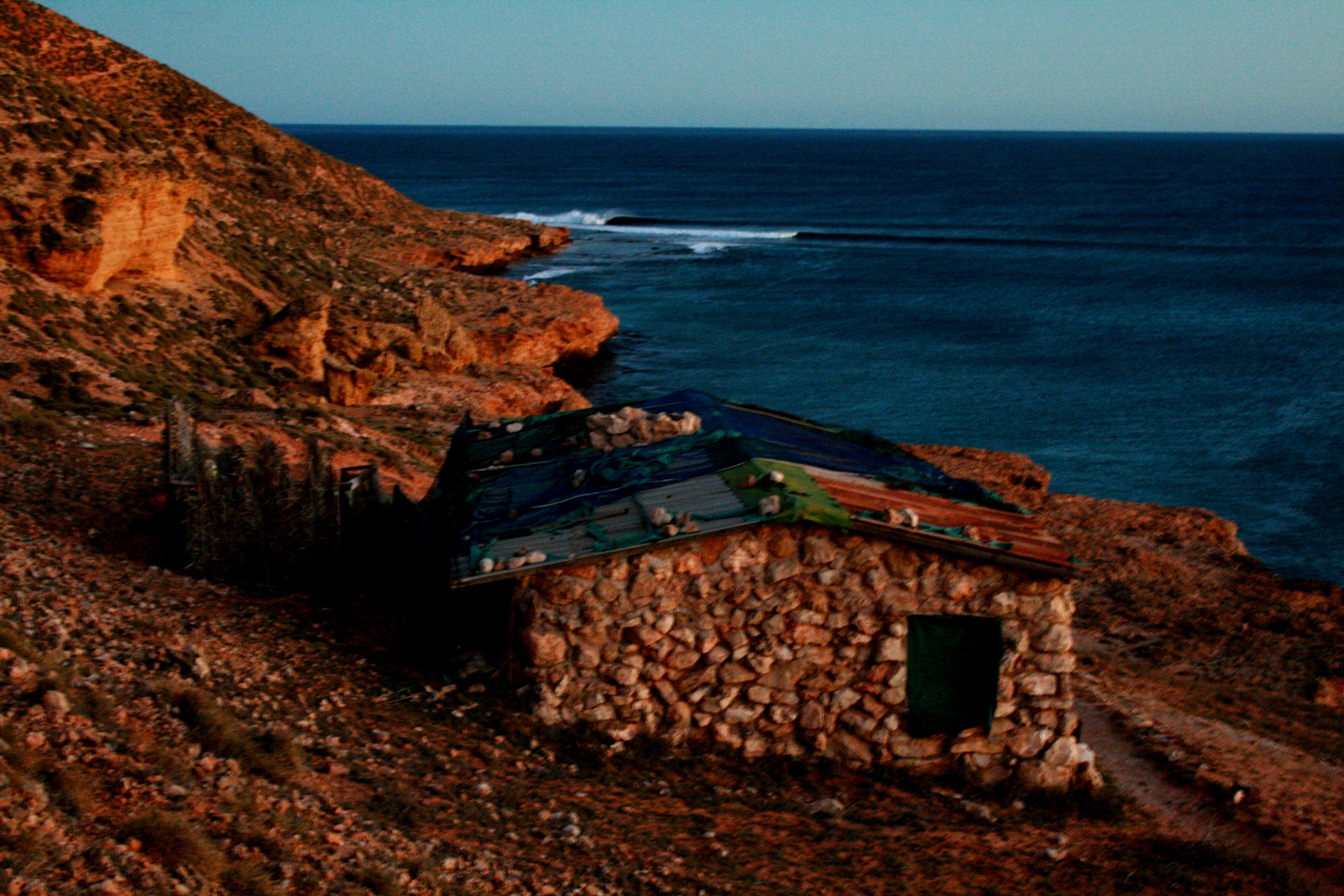 From above the Stonehouse at dawnlooking to the point. Photo: Tom