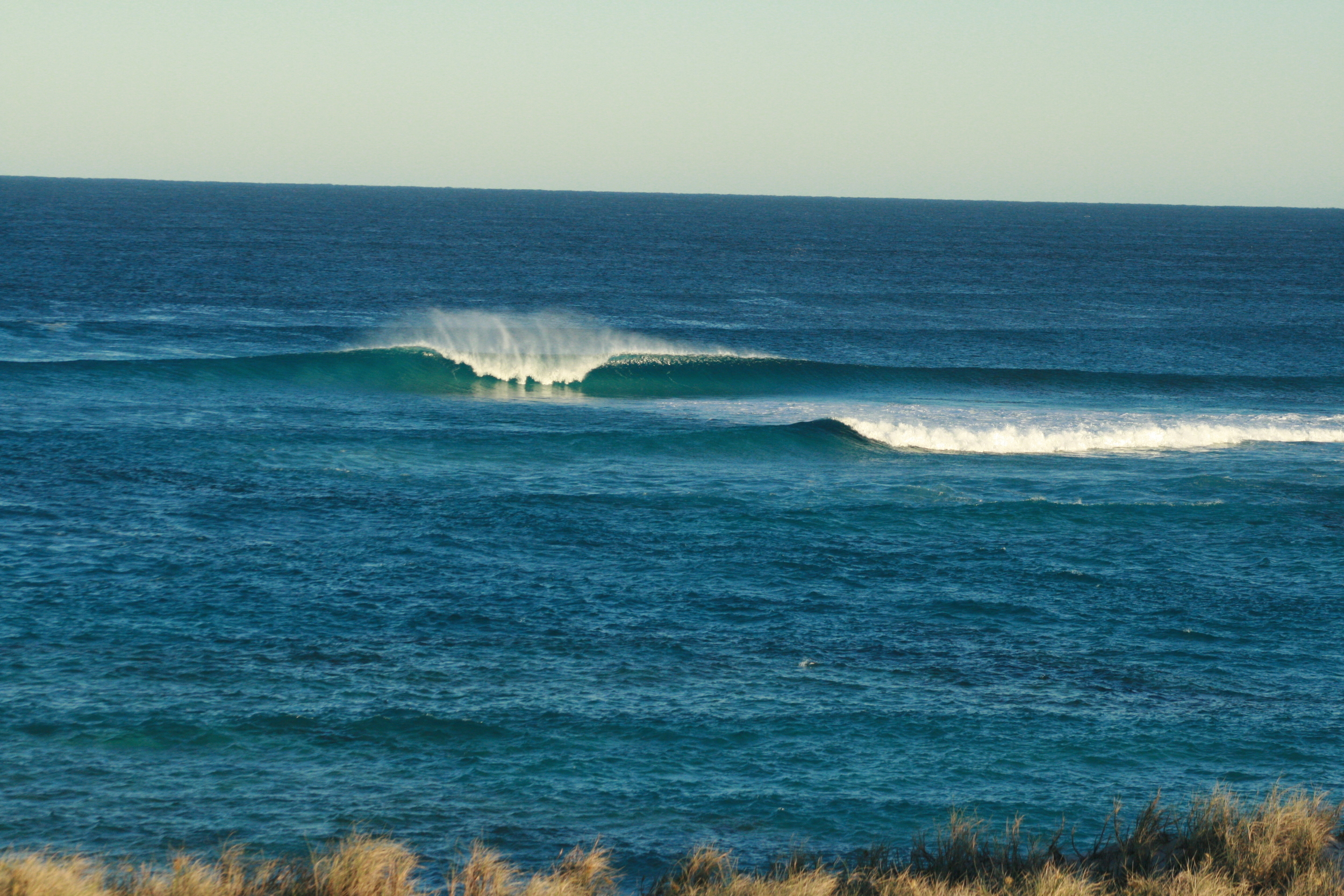 Wokeup onthe 2nd day, stiff as a board, still pumping, straight out there! Photo: Tom Nagle