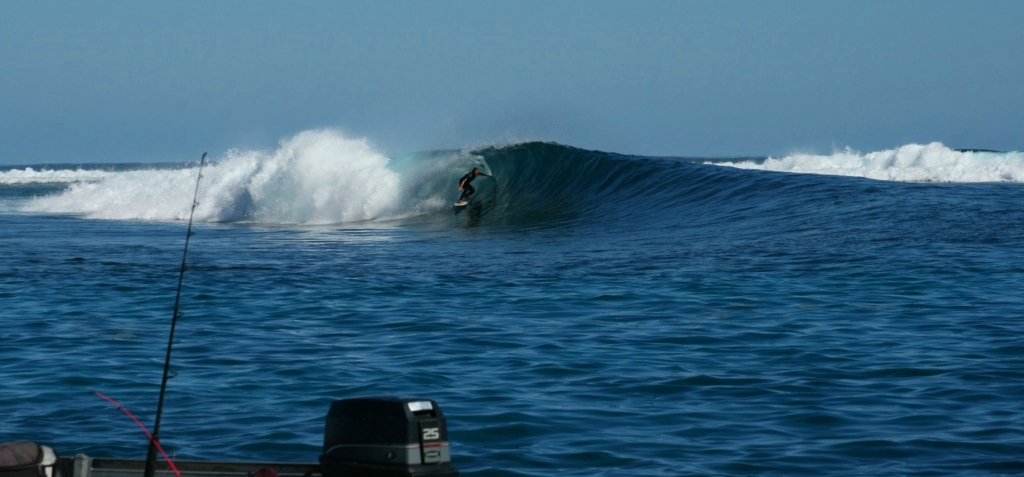 The end bowl section as seen from the tinny gallery. Photo: Old Cat Fish Slater