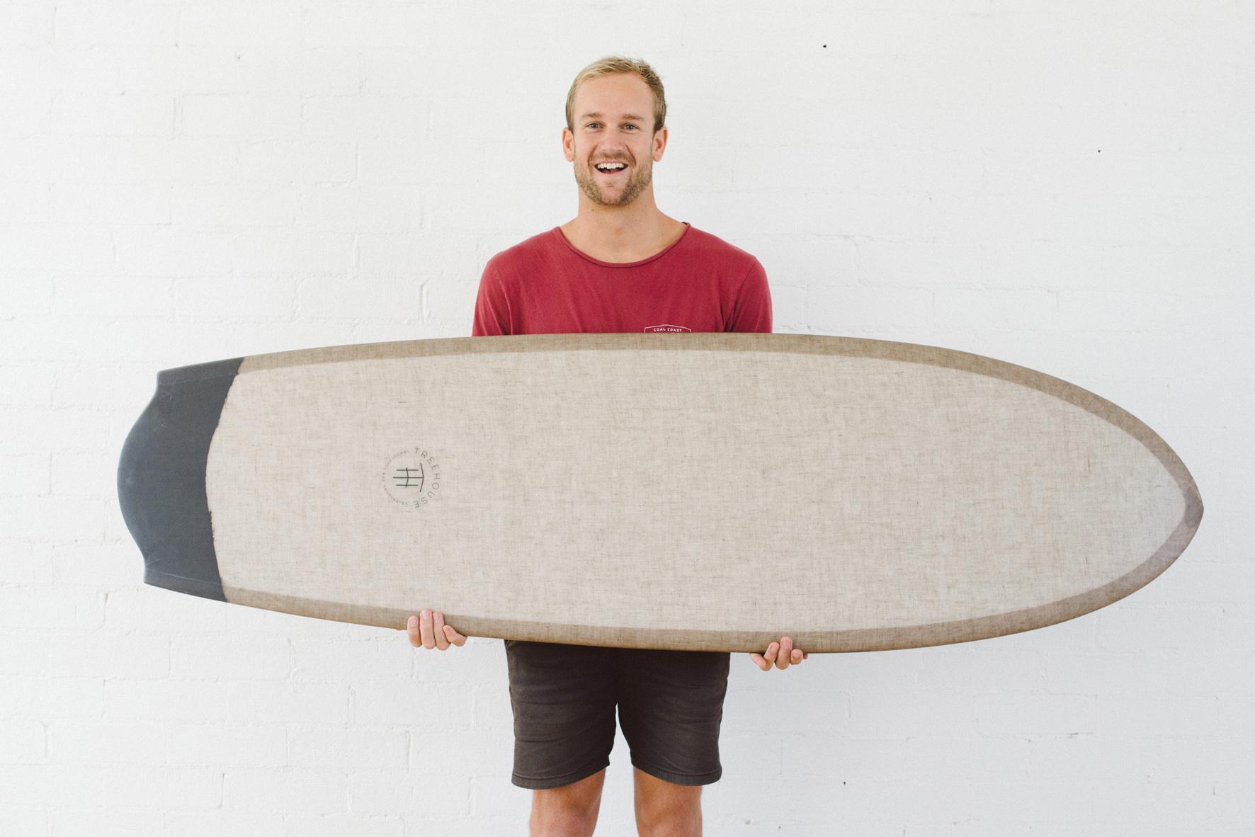 AH Finless Surfboard Bottom