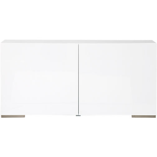 This lacquered wood credenza can be super sexy,  if  accessorized correctly. Remember to add warmth to modern, clean lines to make it more home-y and less sterile. Fuel White Credenza, CB2. $499.
