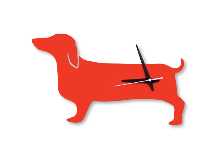 Dachsund wall clock, $49.95.