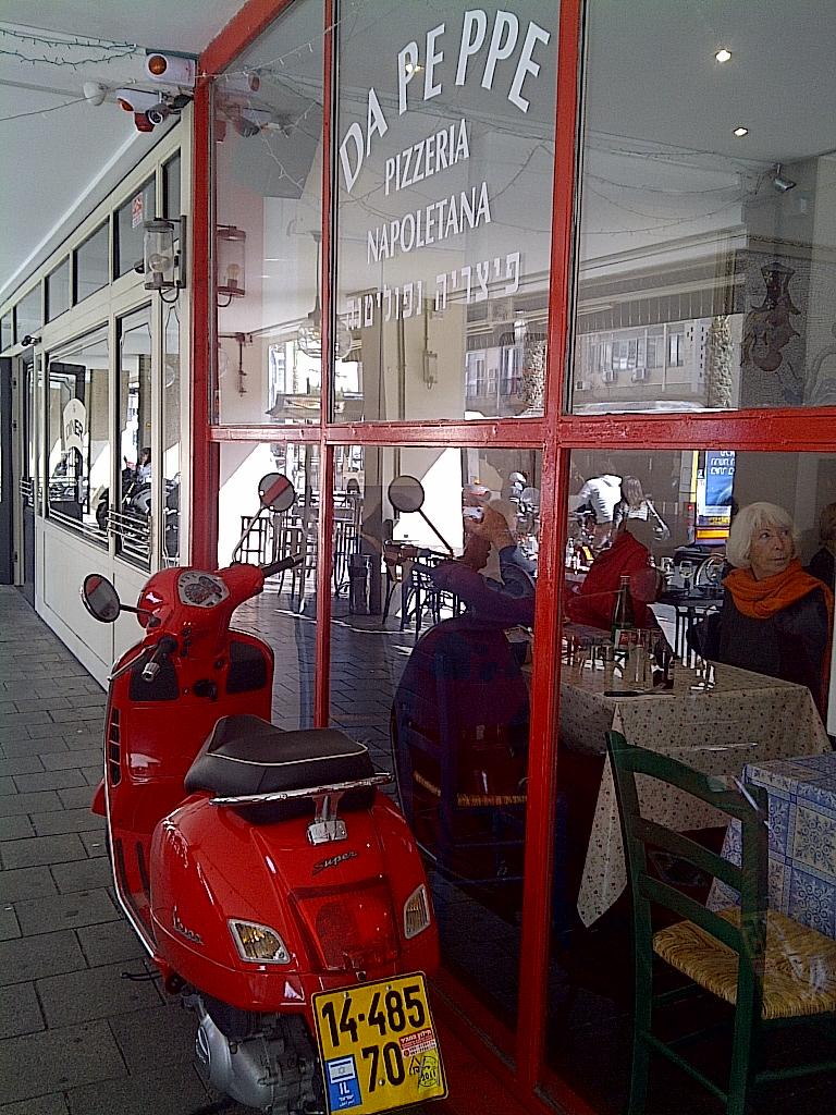 Red Vespa - Naples style in Tel Aviv