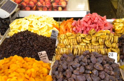 Dried fruits from the market