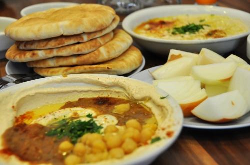 Masabacha, Hummus with Ful and Tehina