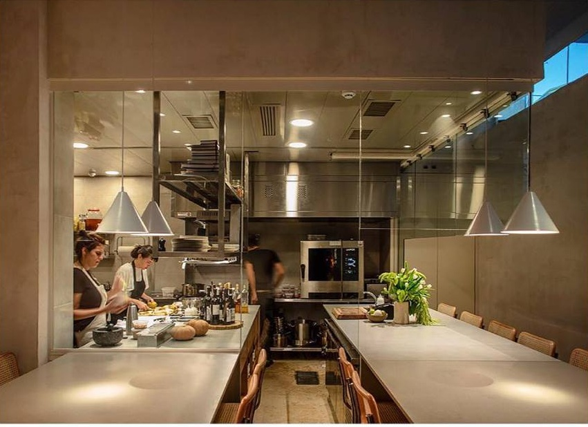 A glimpse into Opa's stunning interior and open kitchen. Photo: Opa