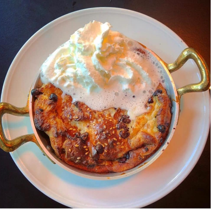 Chocolate chip and bacon bread pudding? Yes please. Photo credit: Shishko