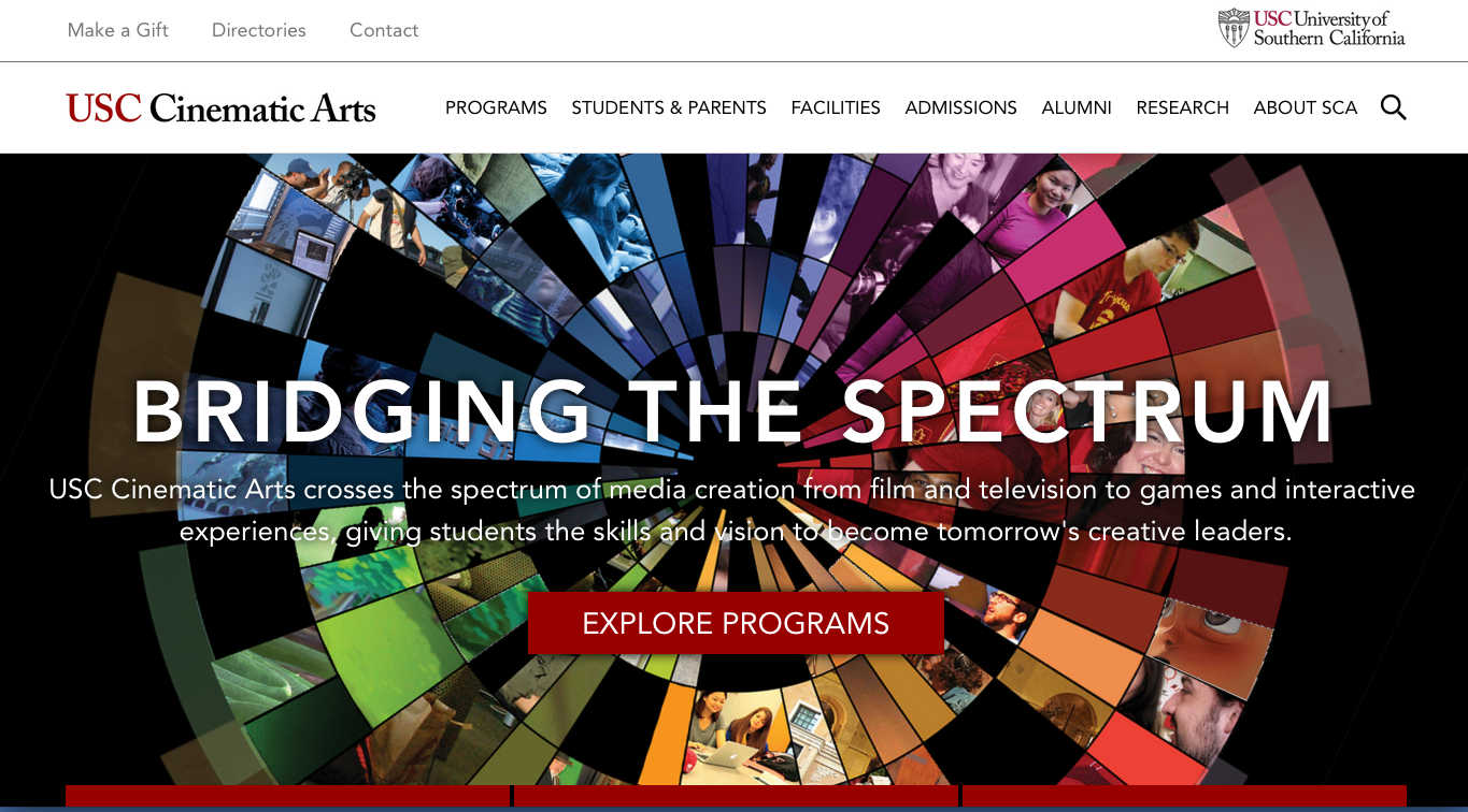 "Magnet developed the brand positioning and the theme line ""Bridging the Spectrum."" Web design by The Interactive Factory"