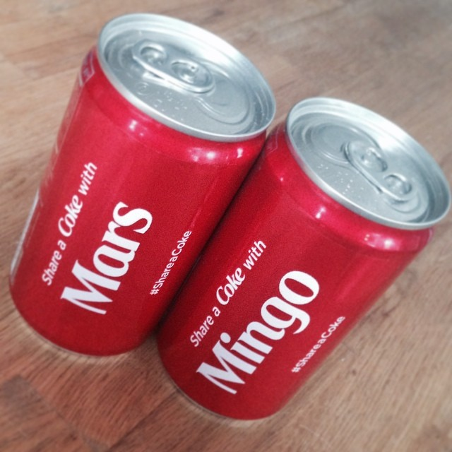 #MarsandMingo ❤️ #ShareaCoke  thx love 😘 @mingointhedance