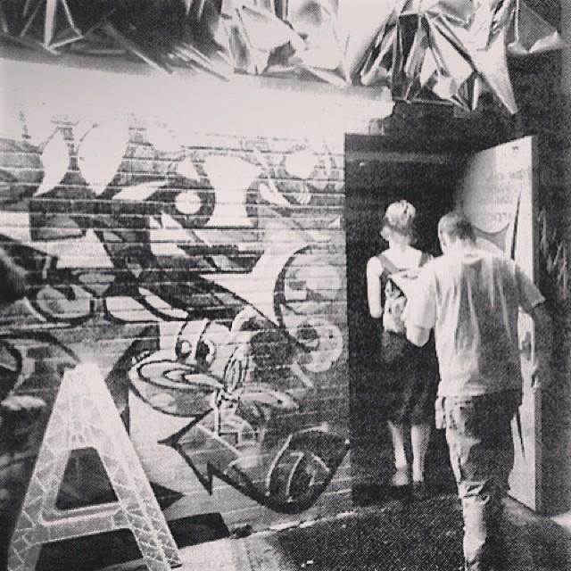#TBT | LUXX nightclub #Brooklyn   #marsartist Aluminum Sculpture | #chrisMendoza Graffiti