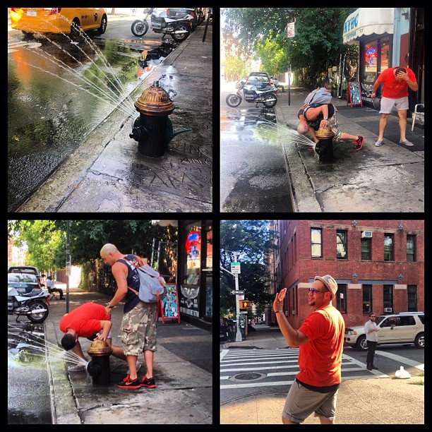 Summerheat #nyc coolin' out w/ @gp731 & @andylyrikcruz cause he don't got time for that, girl!! 😂😎💃 #straightdiva #lowereastside #goodtimes
