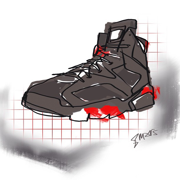 Air Jordan 6 Retro Infrared  Digital painting #marsartist