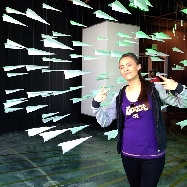 Reppin' Los Lakers at #NikeVault my girl @melputer
