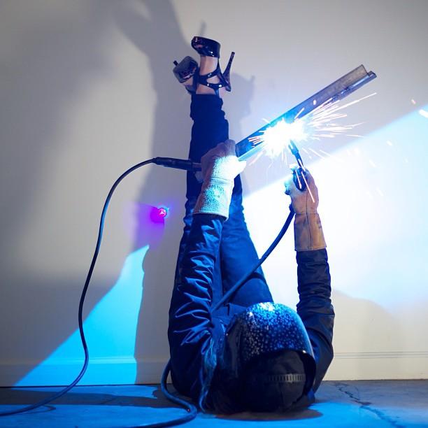 Keep your heels, head, and standards high #marsartist #welding #sculpture #metal #art #whosayswomencantdoitbetter