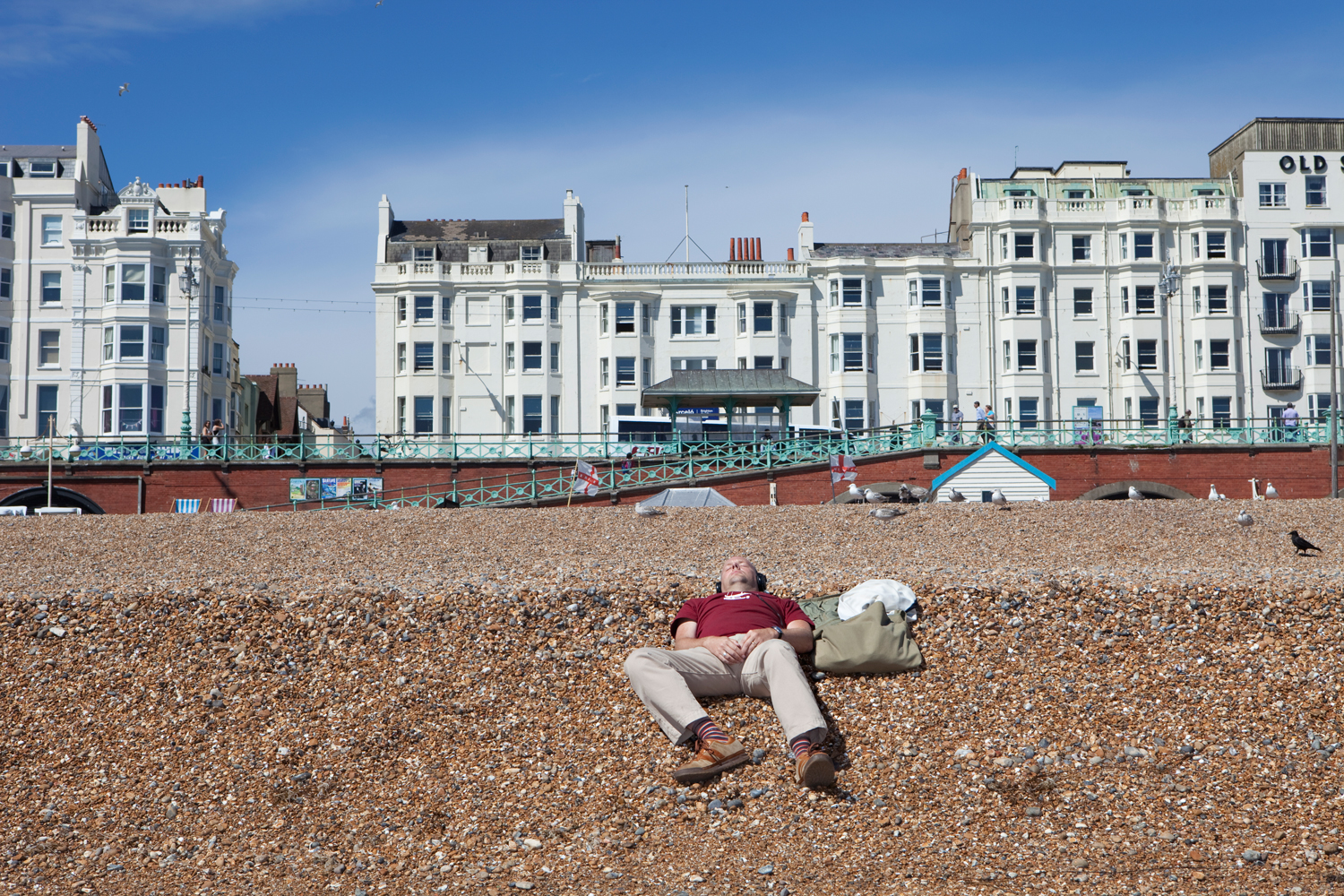 Brighton has been a popular place for leisure and relaxation for the British people throughout centuries.  Brighton, East Essex, South East England.