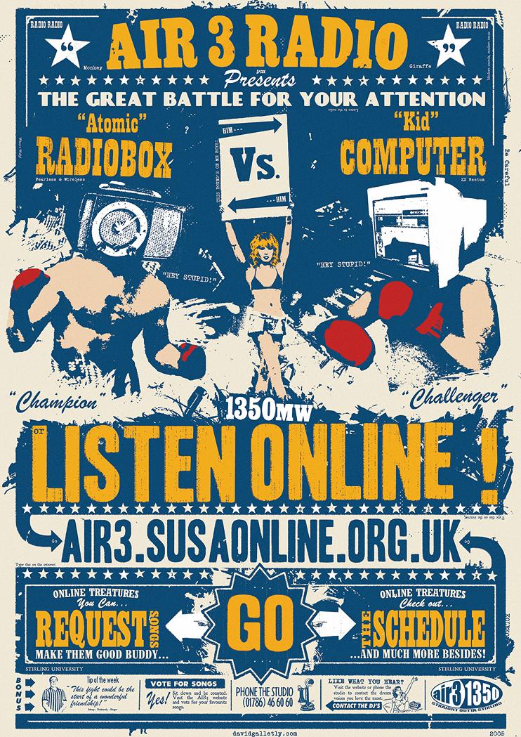 Air 3 Radio Poster