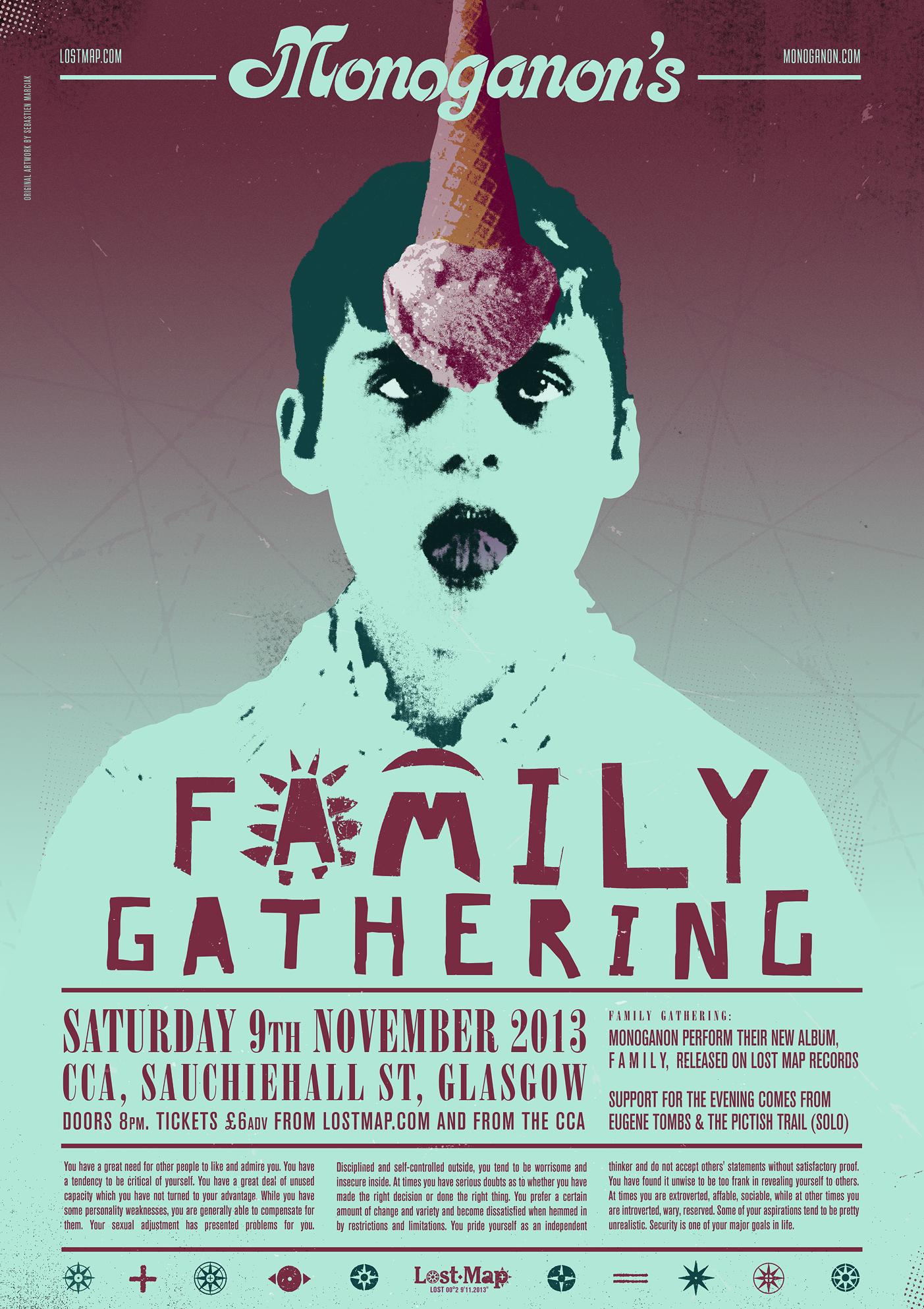 Monoganon's FAMILY Gathering poster