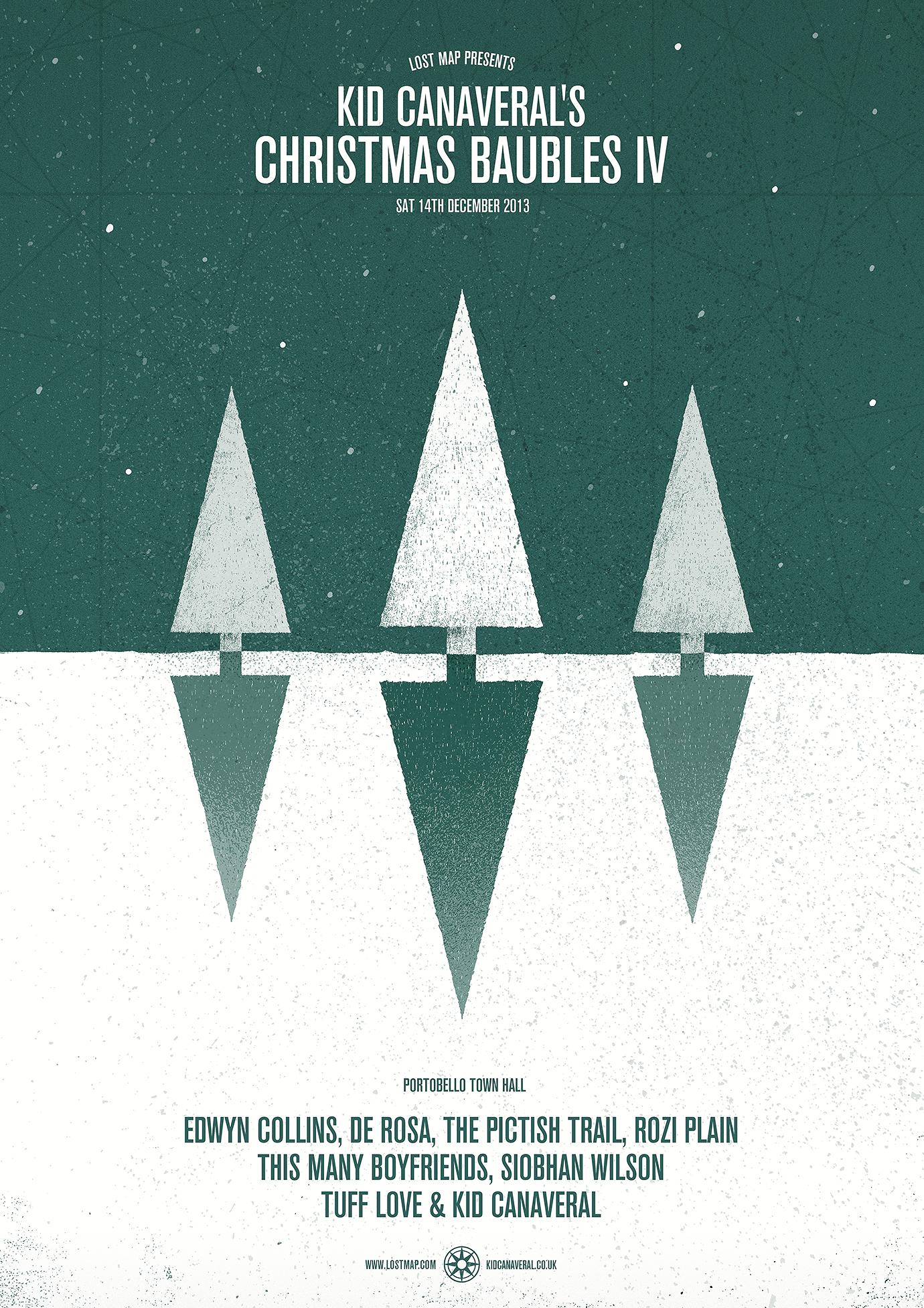 Kid Canaveral's Christmas Baubles Poster IV by David Galletly