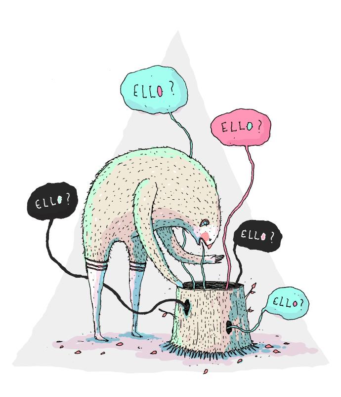 Ello illustration by David Galletly