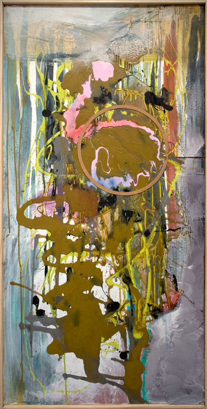 Application authorization Schedule D- returned for insufficient information | Found paint. mixed media on panel | 24x48