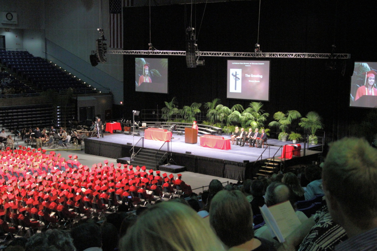 Lutheran High School of Orange County Graduation- Bren Event Center. Irvine, CA 2010