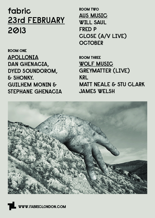 WOLF Music takeover room 3 fabric