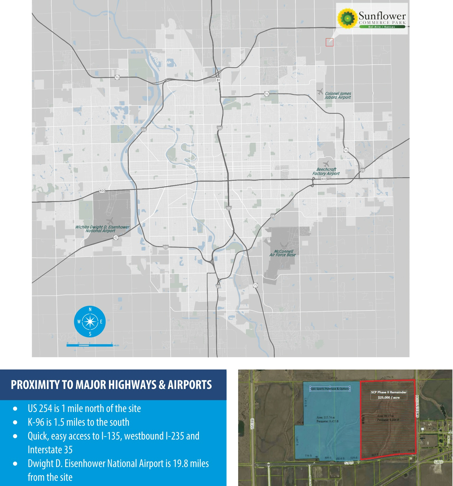 ec5704dc51070 Located near the burgeoning tech sector of Wichita, Sunflower Park is poised  to become a magnet for medical technology and advanced materials  manufacturers.