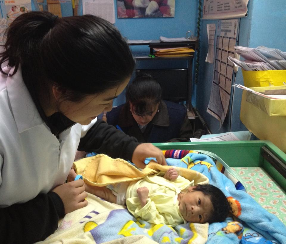 """""""Today marks a full month of living and working in Cusco! Time is flying by and I only have 2 more months left here... We had a really busy day at the clinic today and this teeny little guy was only 9 days old!!"""" - Joanie Kim, summer intern Photo taken: May 17, 2013"""