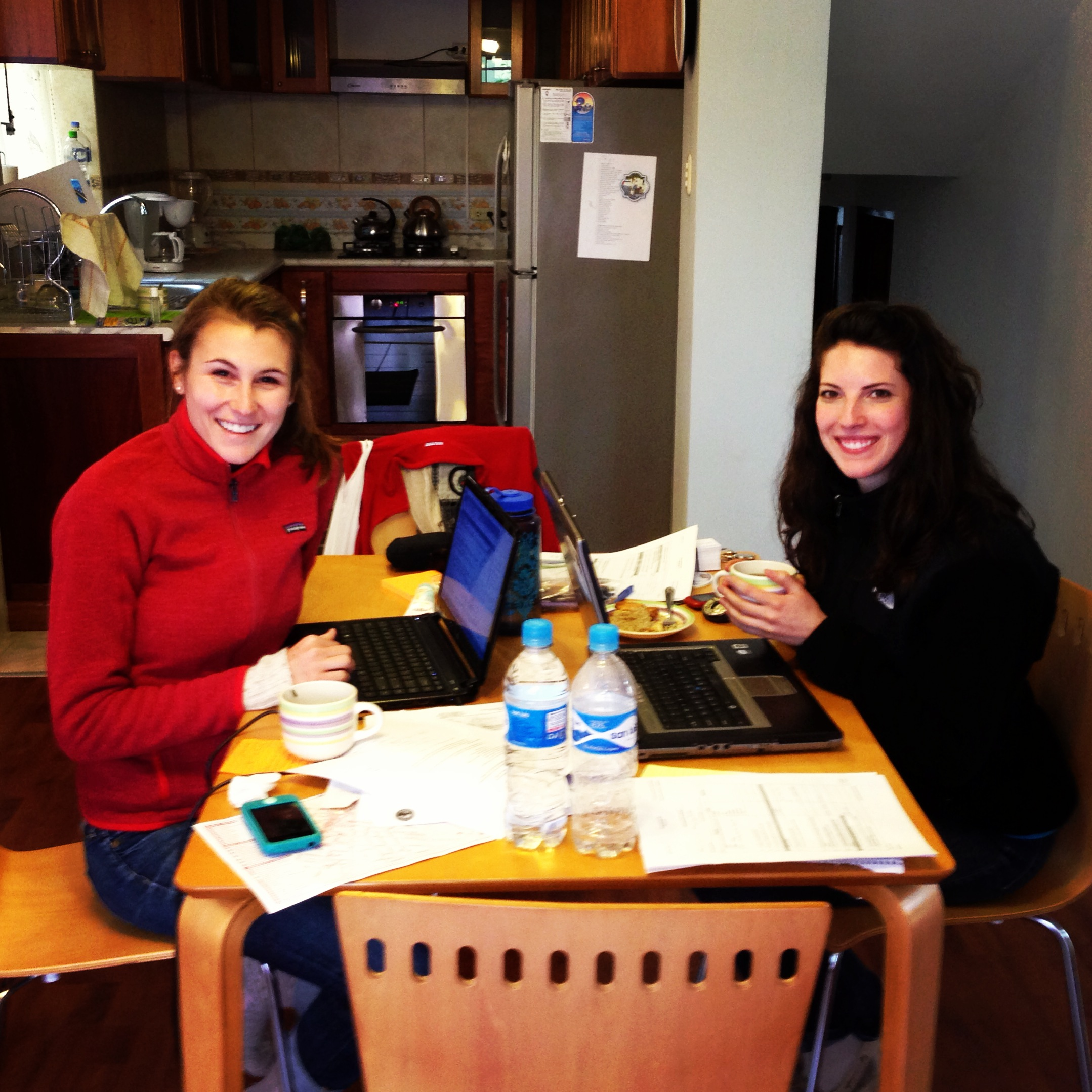 Today we met for the first time with one of the Ministry of Health clinics we'll be working in! Here, Lauren and one of our co-investigators, Kristin Bratton, are hard at work in their new Cusco office.    Photo taken: May 17, 2013.