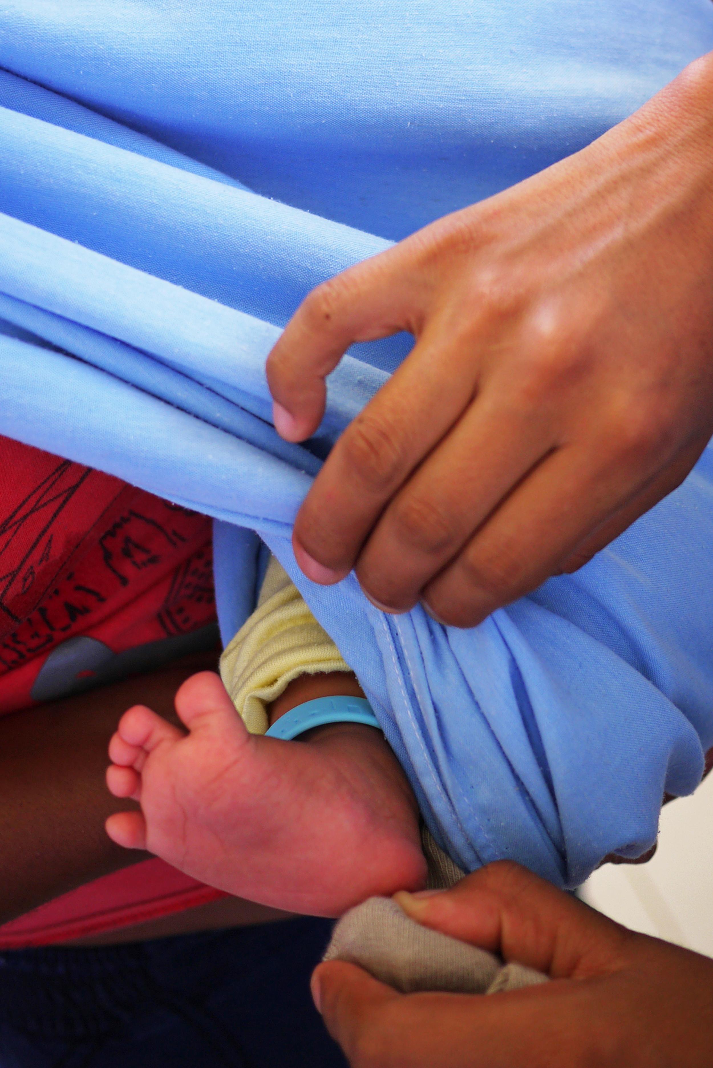 Closeup of the bracelet on an enrolled baby boy! Photo taken: June 25, 2013.