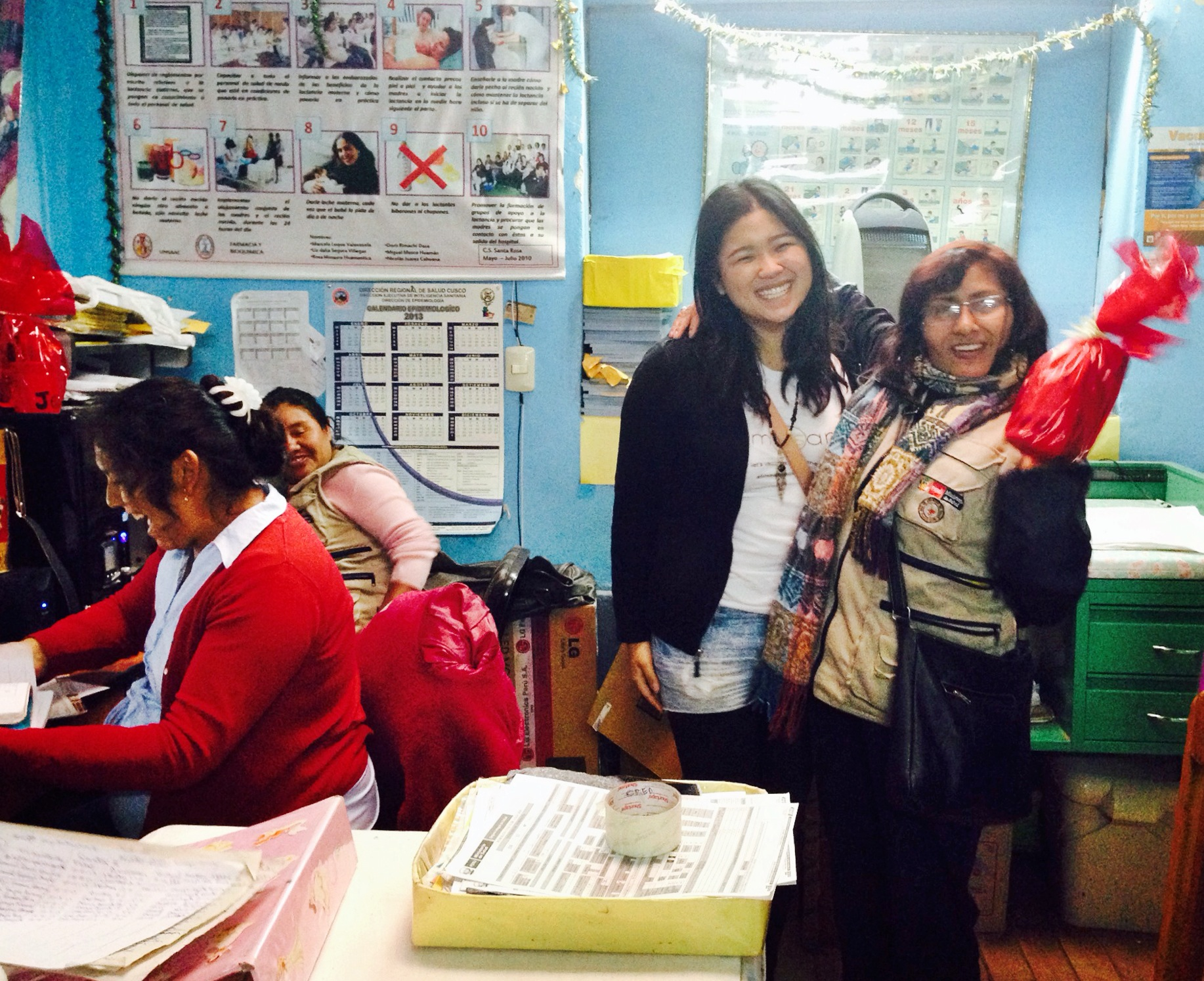 We were so glad the nurses loved their gifts!! It made our day! Photo taken: Dec. 3.