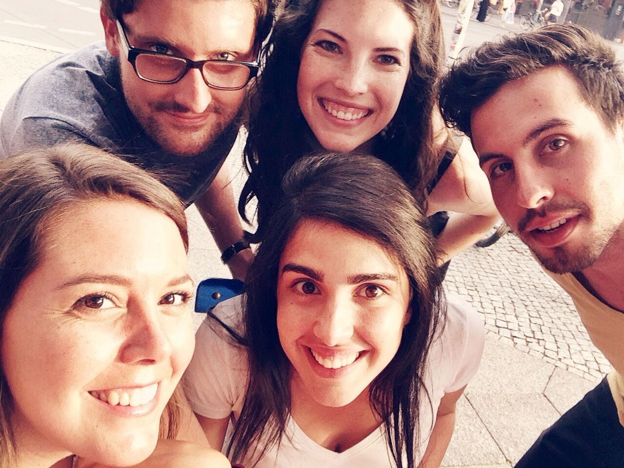 Selfie of our project team from  180 Degrees Consulting Berlin  with our founder! The perfect end to a great meeting.     Photo taken: June 10, 2014 in Berlin, Germany.
