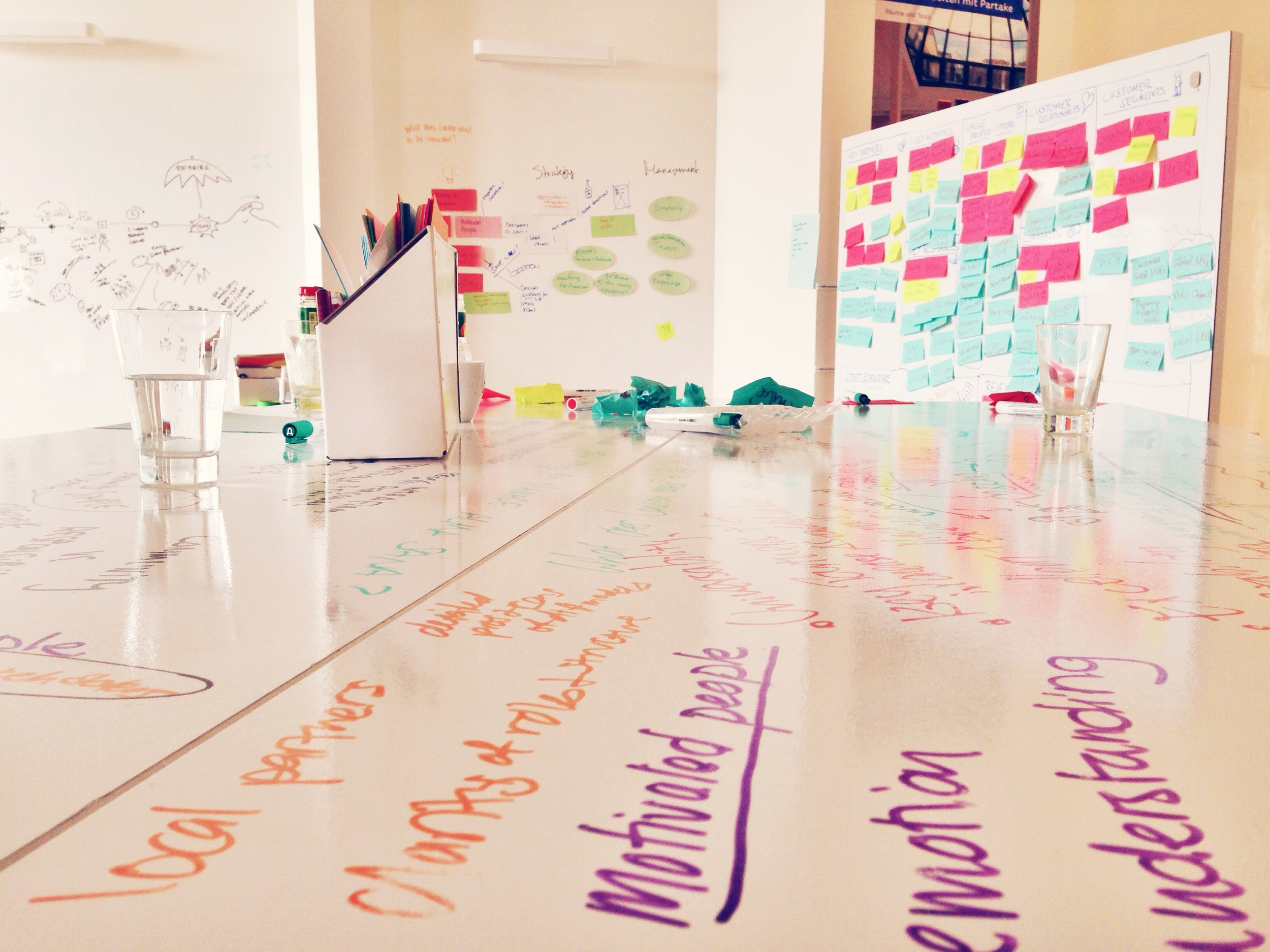 Just a few weeks left in our partnership with 180 Degrees Consulting Berlin ! We're excited to see what ideas they've come up with for us.     Photo taken: July 28, 2014.