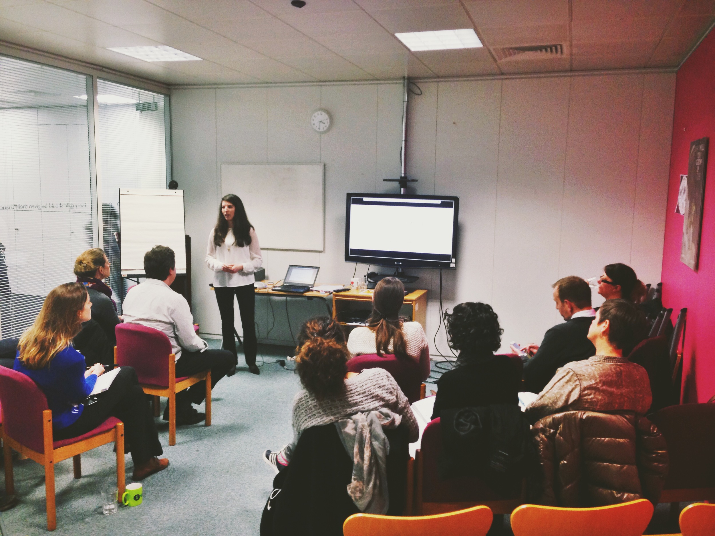 Happy Friday! Today our founder, Lauren, gave an intimate talk at  Save the Children UK  about our work on a panel about Technology & Development. Save is exploring how partnering with innovative technology organizations can accelerate their progress toward giving every child access to health, safety, and education. Photo published: December 12, 2014.
