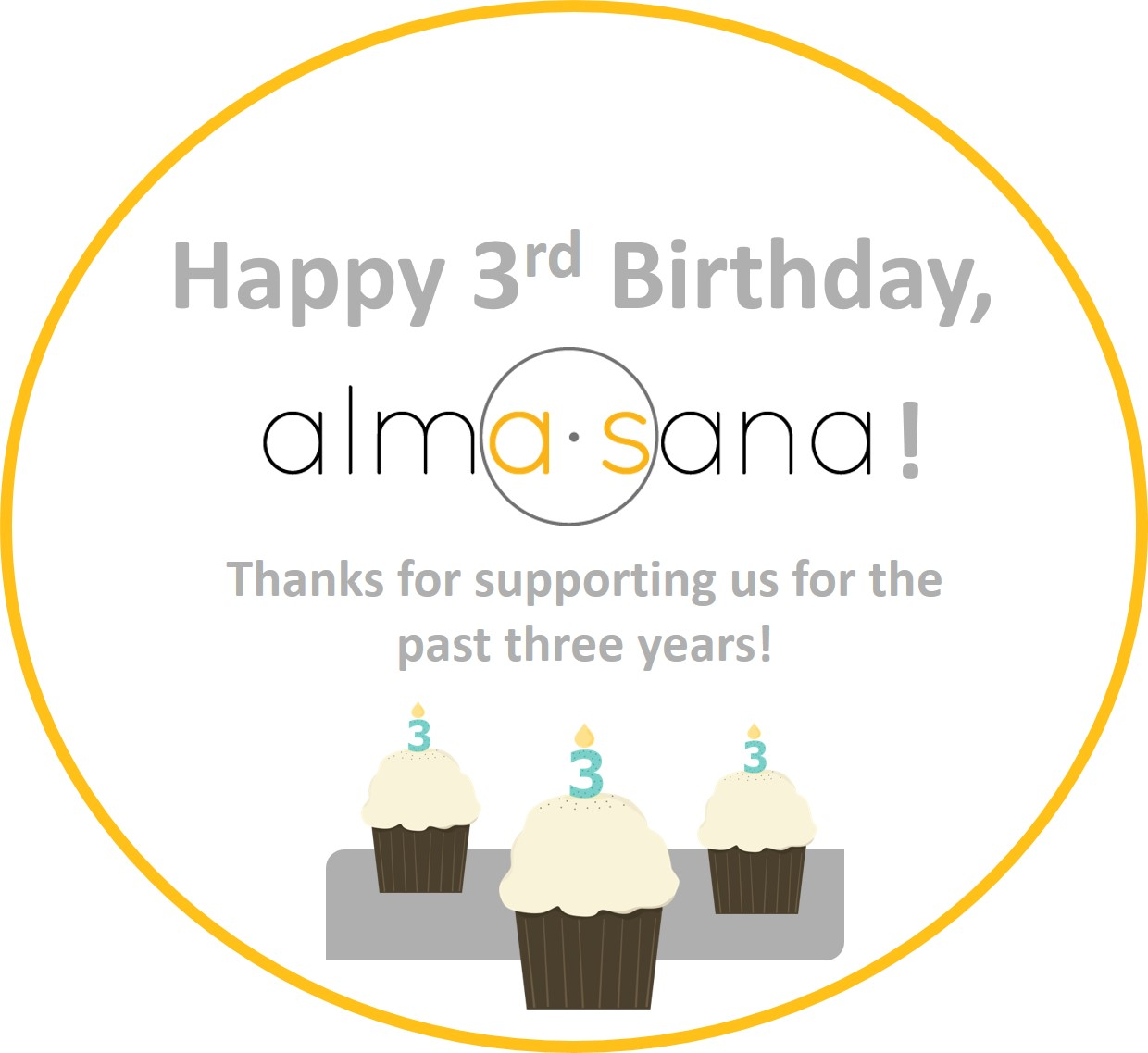 Over the weekend Alma Sana turned three! Thanks to your support, we work to ensure   #  everychild   has access to life-saving vaccines, regardless of where he or she was born.   #  happybirthday      #  vaccineswork  Photo published: March 9, 2015.