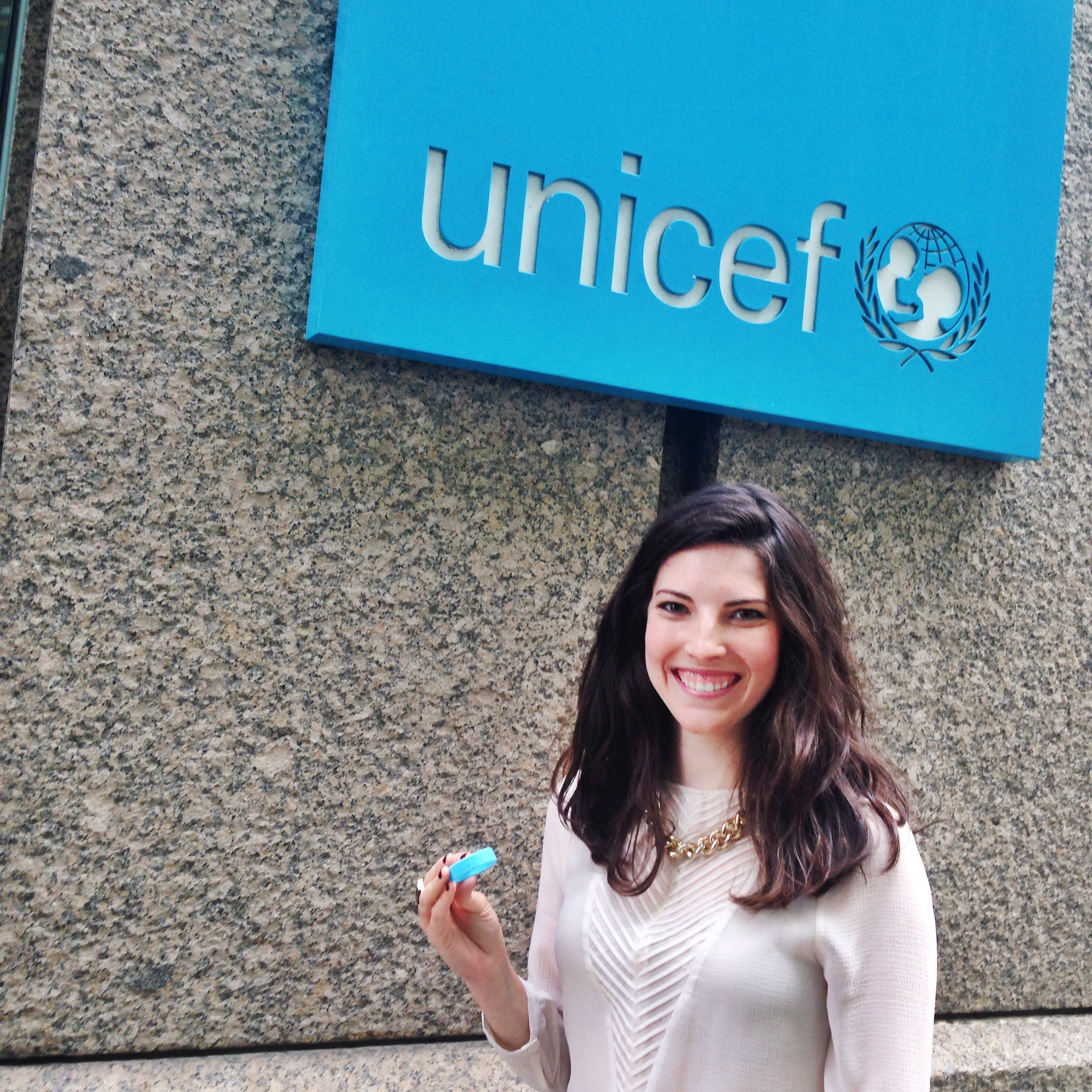 This week we met with   UNICEF  to discuss potential ways we could work together to help our vaccine reminder bracelets reach more children across the developing world and save more lives.  #vaccineswork Photo taken: October 14, 2015.
