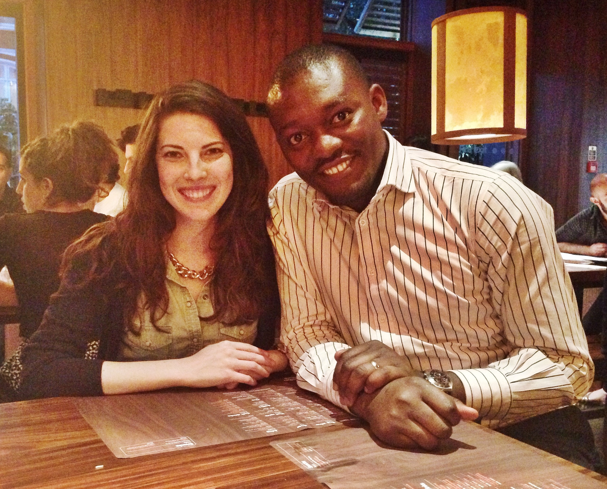 After working together remotely for some time, this week our founder, Lauren, had the chance to meet in person Seye Abimbola, a member of our Phase II research team for Nigeria. Such a wonderful visit! Photo taken: July 18, 2015.