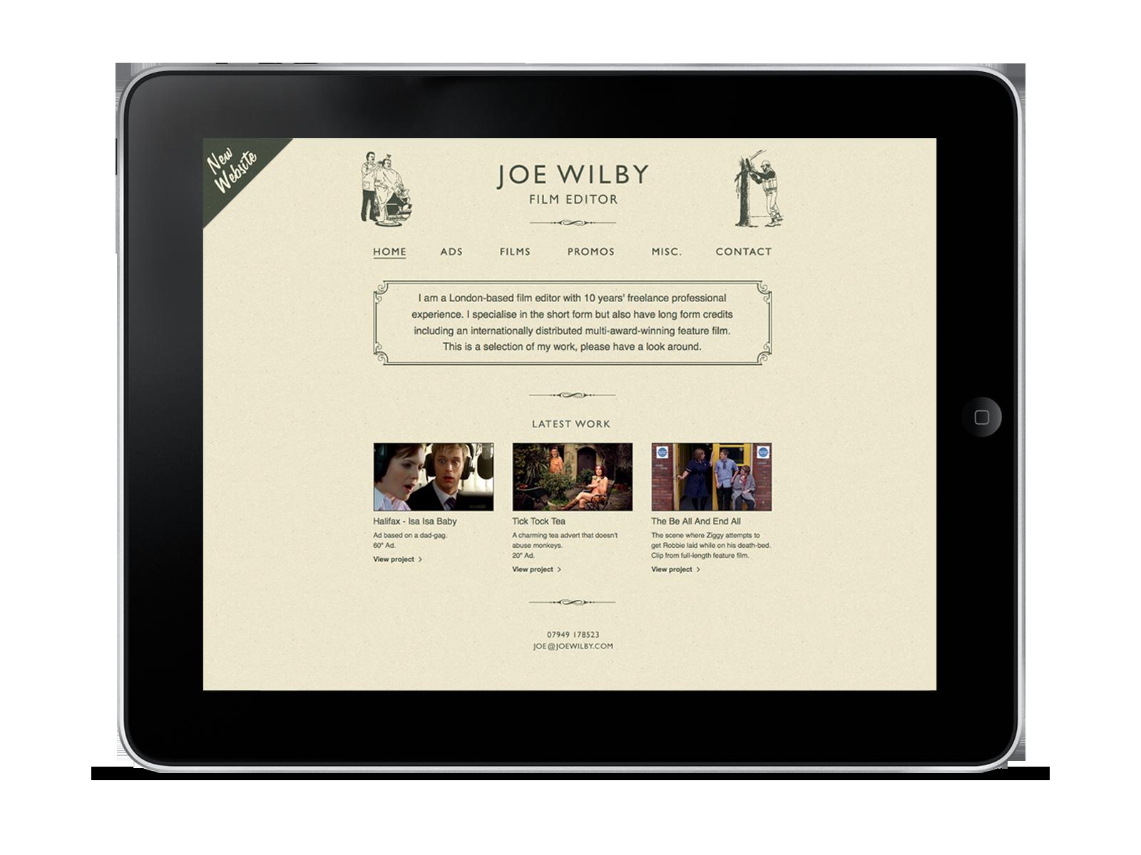 Joe Wilby website design